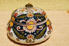Dutch Makkum Delft Hand painted Delft faience jar with lid.