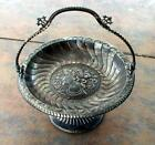Antique Victorian Meriden B Co. silver plated footed serving dish 3D women head