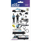 Scrapbooking Stickers Sticko Crafts Police Vehicles Helicopter Handcuffs Badge