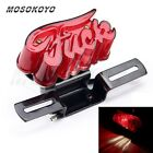 Motorcycle Jack Punk Funny Taillight Lamp License Plate Mount For Harley Chopper