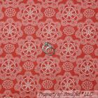 BonEful FABRIC FQ Cotton Quilt Red Cowgirl Country Texas Star Lace Damask Toile