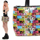 Vtg 90s Club Kid POP ART Rave Cyber Kawaii PVC Vinyl Purse Tote Shoulder Bag