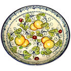 Italian Pottery Bowl Fruit Big Ceramic Hand Painting Made in ITALY Tuscan Lemons