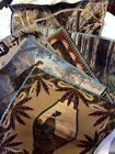 Wild Turkey Hunting Pheasant Feather Camo Tapestry Fabric Pillow top 6 Panel Lot