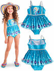FROZEN ICE QUEEN ELSA SWIMSUIT W/PLEATED SKIRT GIRLS 1PC SIZE 5/6 DISNEY STORE