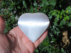 Selenite Soothing Hand Held Healing Heart - Angelic Connection - Glows !