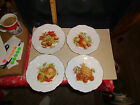 Vintage China Winterling Bavaria Germany 4 Fruit and Nuts Plates  #86