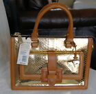 BRAHMIN ATELIER COLLECTION BROOKLINE SATCHEL LADY ANACONDA BAG GOLD NEW NWT 695
