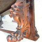 Great Highly Carved Griffin/Gargoyle Solid Oak and Tiger Oak Sideboard Top