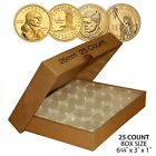 25 Direct Fit Airtight A26 Coin Holders Capsules For PRESIDENTIAL 1