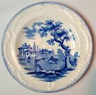HUMPHREYS CLOCK TOY PLATE, VINTAGE RIDGWAYS ENGLAND SCENES FROM CHARLES DICKENS