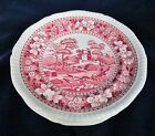 Antique Copeland Pink SPODE TOWER 6 Bread Plates England Old Mark