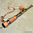 VINTAGE Nautical Marine Spyglass Brass Telescope with Leather case GOOD GIFT