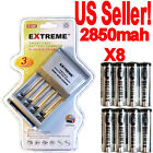 8 digimax 2850mah Rechargeable battery+EXTREME 3 Hour AA/AAA Charger!!!!!!!!!!*.
