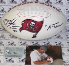MIKE ALSTOTT HAND SIGNED TAMPA BAY BUCS FOOTBALL A-TRAIN PICTURE SIGNING PSA DNA