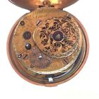 Early gilt pair cased verge fusee pocket watch circa 1730 square pillars