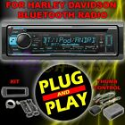 FOR 98 2013 HARLEY DAVIDSON TOURING PLUG  PLAY BLUETOOTH MP3 AUX RADIO STEREO