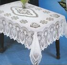 CROCHET VINYL LACE Tablecloth Table Cloth Vintage Chic Alcove BEIGE White