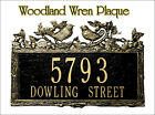 Whitehall Woodland Wren Address Marker Personalized Plaque 17 Color Choices
