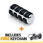 Chrome Shift Peg Cover Brake Toe Heel Shifter Pedal Pad+Cruiser Keychain