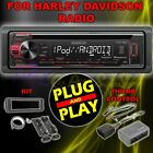 FOR 1998 2013 HARLEY DAVIDSON TOURING USB MP3 CD AUX RADIO STEREO KIT