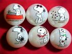 SET OF 6 JABO SNOOPY PERSONA MARBLES $12.99 POSTPAID!