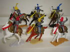 Timpo 54mm Late Issue Swoppet Knights / Lot of 6 Mounted Figures