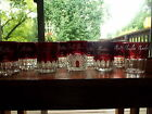 (9) RARE TUMBLERS Ruby Red Flash Stain Eapg Glass c1890-1900s souvenir mother