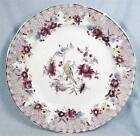 Antique Mulberry Transferware Plate British Tambourine Mellor Venables