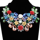 Fashion Charm Flower Crystal Choker Statement Bib Necklace Jewelry Chain Pendant