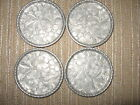 vtg metal aluminum coasters hand forged Everlast drink floral flowers