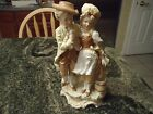 Antique Royal Rudolstadt Porcelain Figure Young Couple VASE Very Detailed 1904