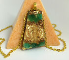 Heart Chakra Orgone Pendant Necklace Crystals Positive Prehnite Green Energy 4th