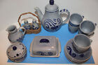 M&R MARZI & REMY POTTERY BREAKFAST SET VINTAGE 17 PIECES