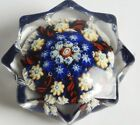 VINTAGE STUDIO MADE MILLEFIORI PAPERWEIGHT 8 SIDED STAR FORM