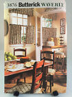 Butterick 3876 Waverly Kitchen Accessories Curtain Placemat Sewing Pattern Uncut