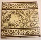 Vintage Victorian Minton China Works Stoke On Trent Ceramic Tile Black