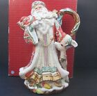 Fitz & Floyd Enchanted Holiday Santa Pitcher Perfect Condition In Box