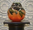 Charles Lotton Hand Blown Glass Vase Signed 1984