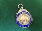 Solid Sterling Silver Watch Fob or Pendant, School Sports Medal, Made in 1930