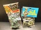 Lot 8 VTG NEW GREEN PLASTIC TOY ARMY MEN G.I. SOLDIERS  ACTION FIGURES LARGE 5