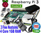 RASPBERRY PI 3 Model B Wireless Kit 8GB C10 + Case + 25 A Power Supply