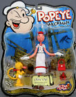 Popeye the Sailor Man OLIVE OYL 6 Bendy Figure w EUGENE the JEEP by Mezco NEW