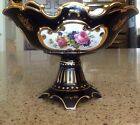 Gorgeous Vintage Floral and Fragonard Courting Couple Decorative Urn Bowl