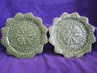 Bordallo Pinheiro 1 pair Green Cabbage Lettuce Carrot Dessert or Bread Plates