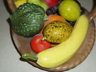 Spectacular Tropical Ceramic Italy Hand Painted Italian Fruit Bowl Basket VGC