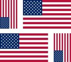 Set of 4x sticker vinyl car bumper decal outdoor USA flag american united states