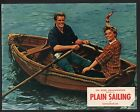 Plain Sailing Lobby Card-June Thorburn and John Gregson on a boat ride.