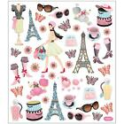 Scrapbooking Crafts Stickers Sticker King Bonjour Paris Eiffel Tea Boots Hats