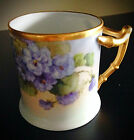 Beautiful Vintage/Antique Hand Painted China Cup With Flowers Signed H DuPree